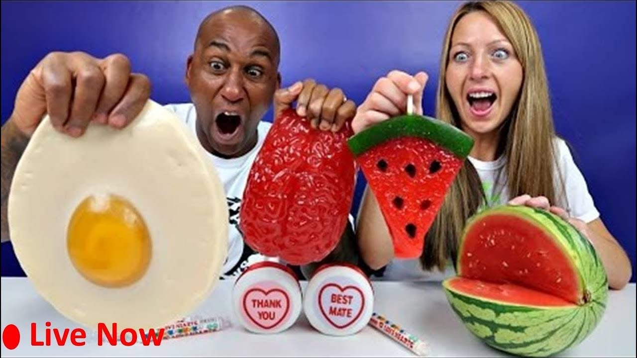 Live Toys Andme Bad Baby Real Food Vs Gummy Food Gross