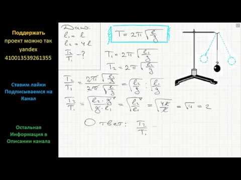 Как изменится период колебаний математического маятника