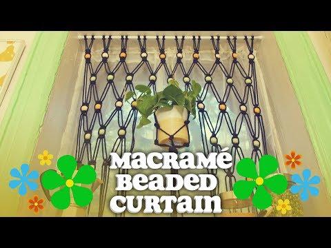 DIY Macrame Beaded Curtains (With a Built-In Planter) - Crafty Lumberjacks - HGTV Handmade '70s Week