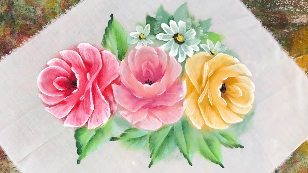 Aprenda riscar e pintar as rosas 🌹