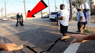 ARMED POLICE OFFICERS SHOWED UP FOR THIS.. (BMX IN COMPTON)