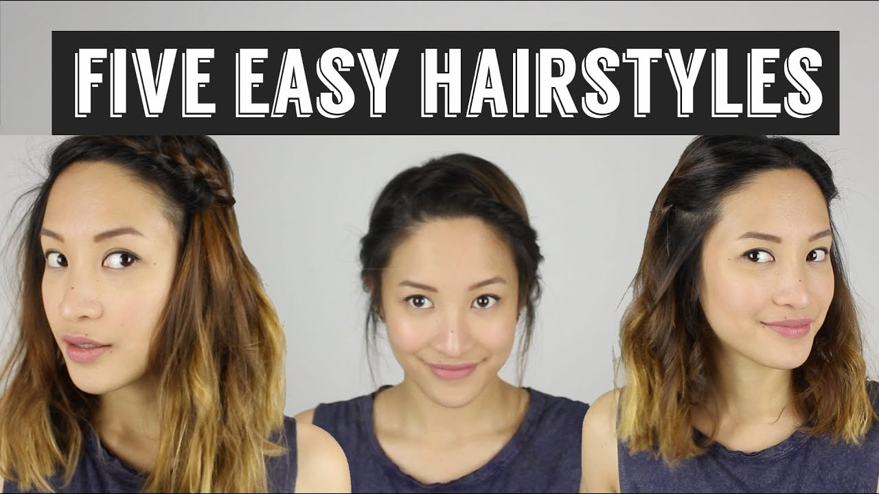 Five Quick & Easy Hairstyles How To Style Medium Length Hair
