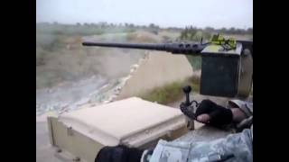 Abrams tank runs right through a wall in Iraq
