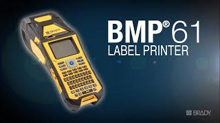 high performance bmp 61 brady label printer