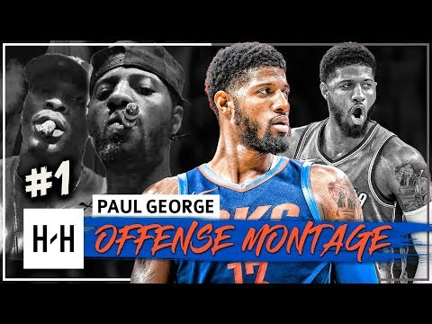 Paul George BEAST Full Offense Highlights 2017-2018 Season (Part 1) - Re-Signs with Thunder!