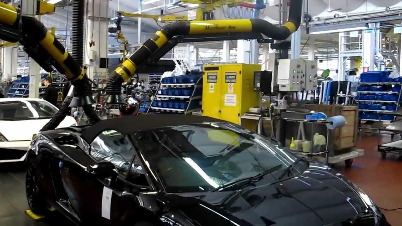 Lamborghini Factory Tour Gallardo Receives Life Youtube