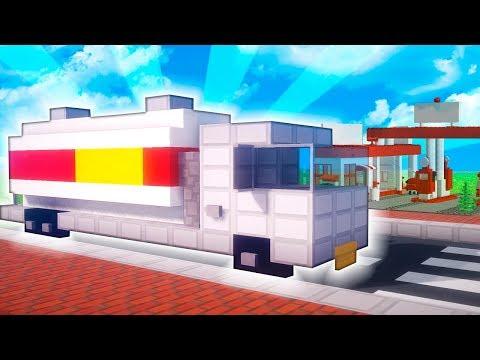 Minecraft: Cómo construir un CAMIÓN DE GAS | TUTORIAL