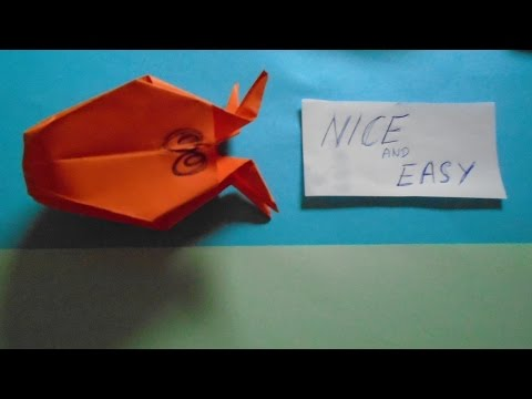 Easy Origami Octopus