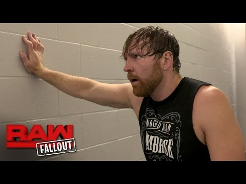 """Dean Ambrose """"apologizes"""" for his disqualification against The Miz: Raw Fallout, May 15, 2017"""