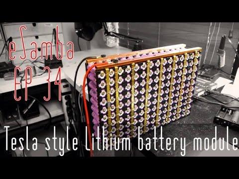 Tesla Style Battery Module Ep 34 Updated 18650 Ev Youtube