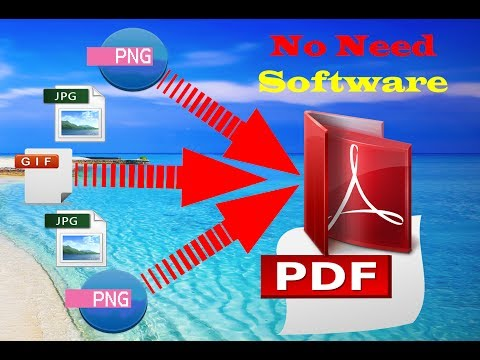 How to convert photos into one pdf