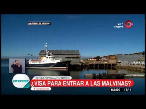 ¿Visa para entrar a las Malvinas?