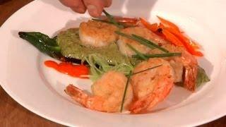 Poblano Pepper Cream Sauce & Shrimp : Coastal Flavors