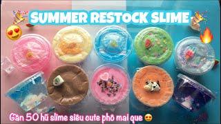 Restock Slime 31/5 | Gần 50 hũ Slime siu rẻ và cute phô mai que 🎉| Nhi Nhi ❤️| Hết hàng 😭