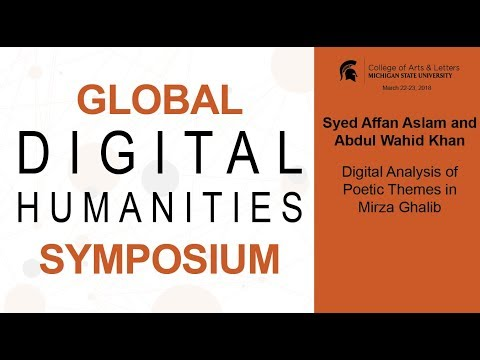 Syed Affan Aslam and Abdul Wahid Khan | Digital Analysis of Poetic Themes in Mirza Ghalib