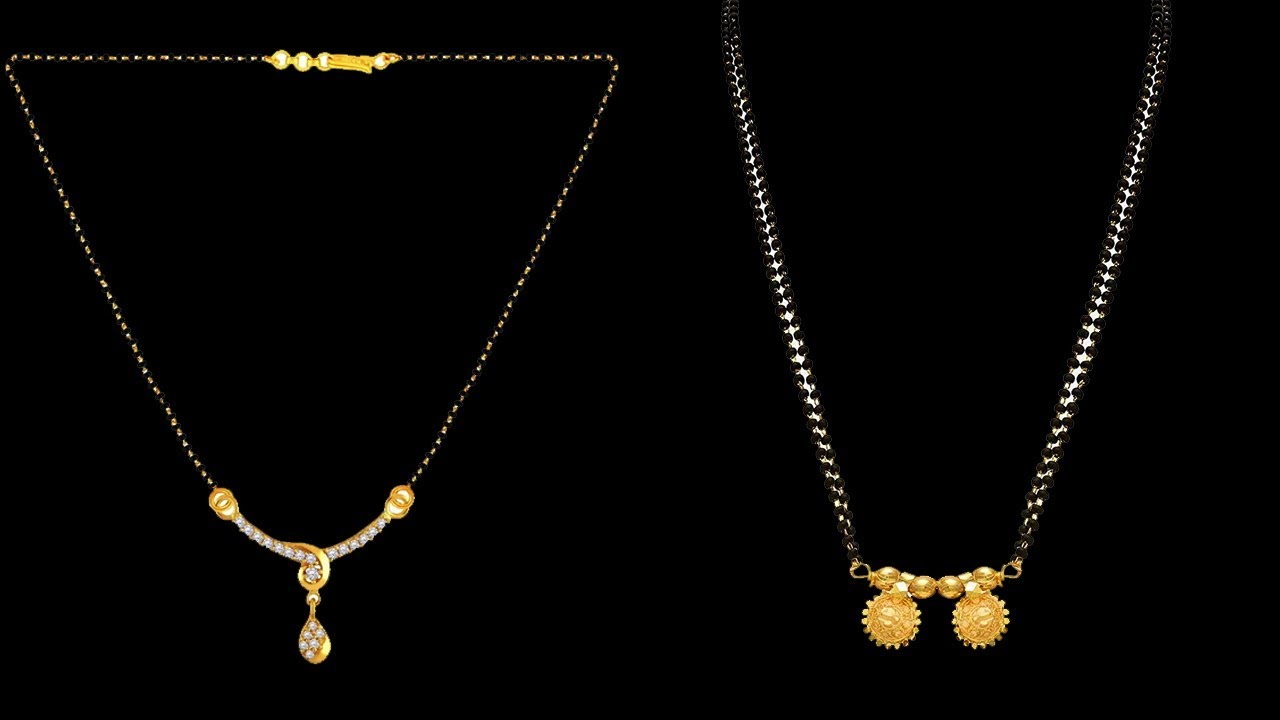 Gold Small Chain Mangalsutra Designs With Price