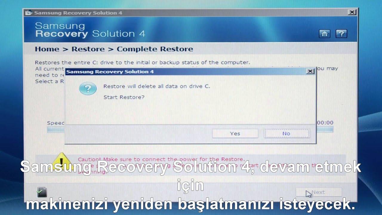 samsung laptop recovery mode açılmıyor
