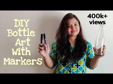 diy-bottle-art-|-simple-and-quick-bottle-painting-|-home-decor-ideas-|-episode-32
