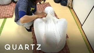 Adult swaddling is taking off in Japan