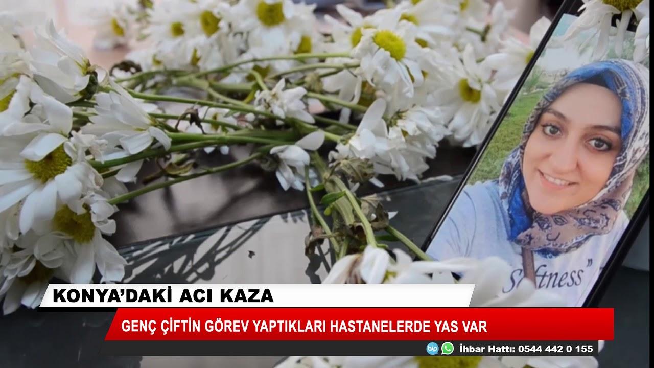 Konya'daki feci kazada ölen doktor çiftin cenazeleri toprağa verildi