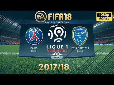 FIFA 18 PSG vs Troyes | Ligue 1 Conforama 2017/18 | PS4 Full Match