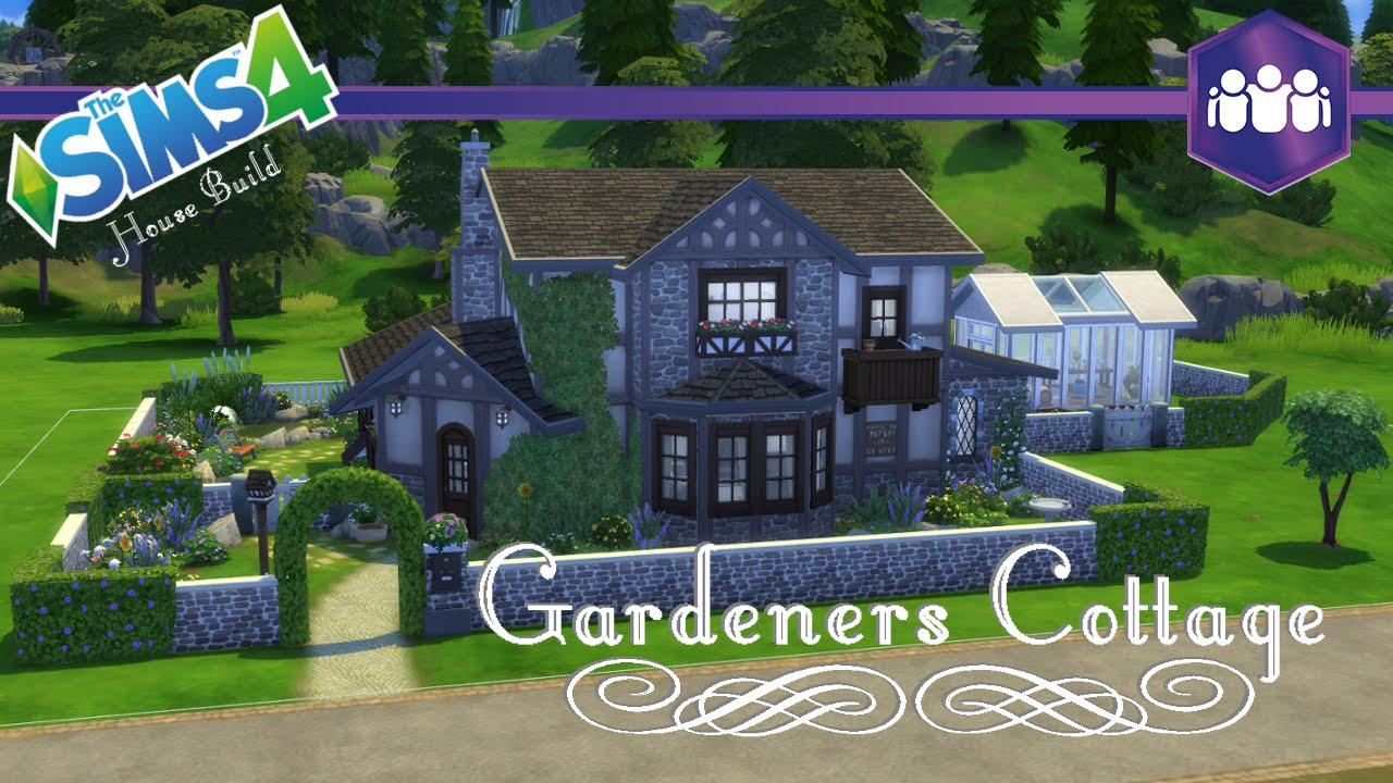 The sims 4 get together house build gardeners cottage for Get a home built