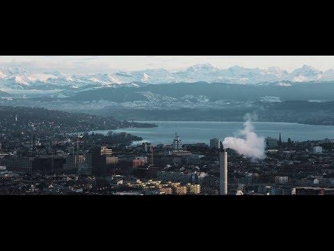 Hiver à Zürich, Suisse.