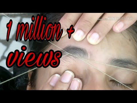 How to make eyebrow with Missing Growth !! Perfect Shape Eyebrow Threading Tutorial