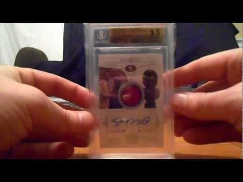 Huge Autographed ( Auto ) Football Card Collection John Elway Joe Montana Desean Jackson Etc..