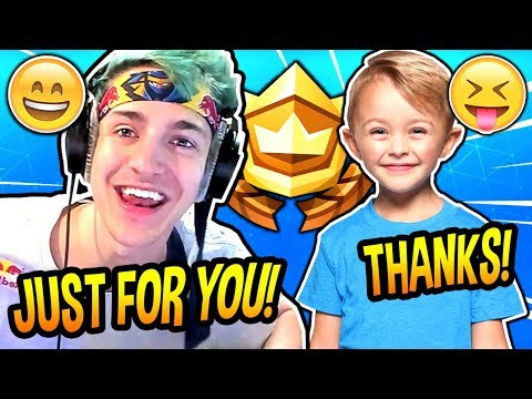 NINJA GIVES THIS *CUTE* KID A FREE BATTLE PASS! (SEASON 6) Fortnite FUNNY & ADORABLE  Moments