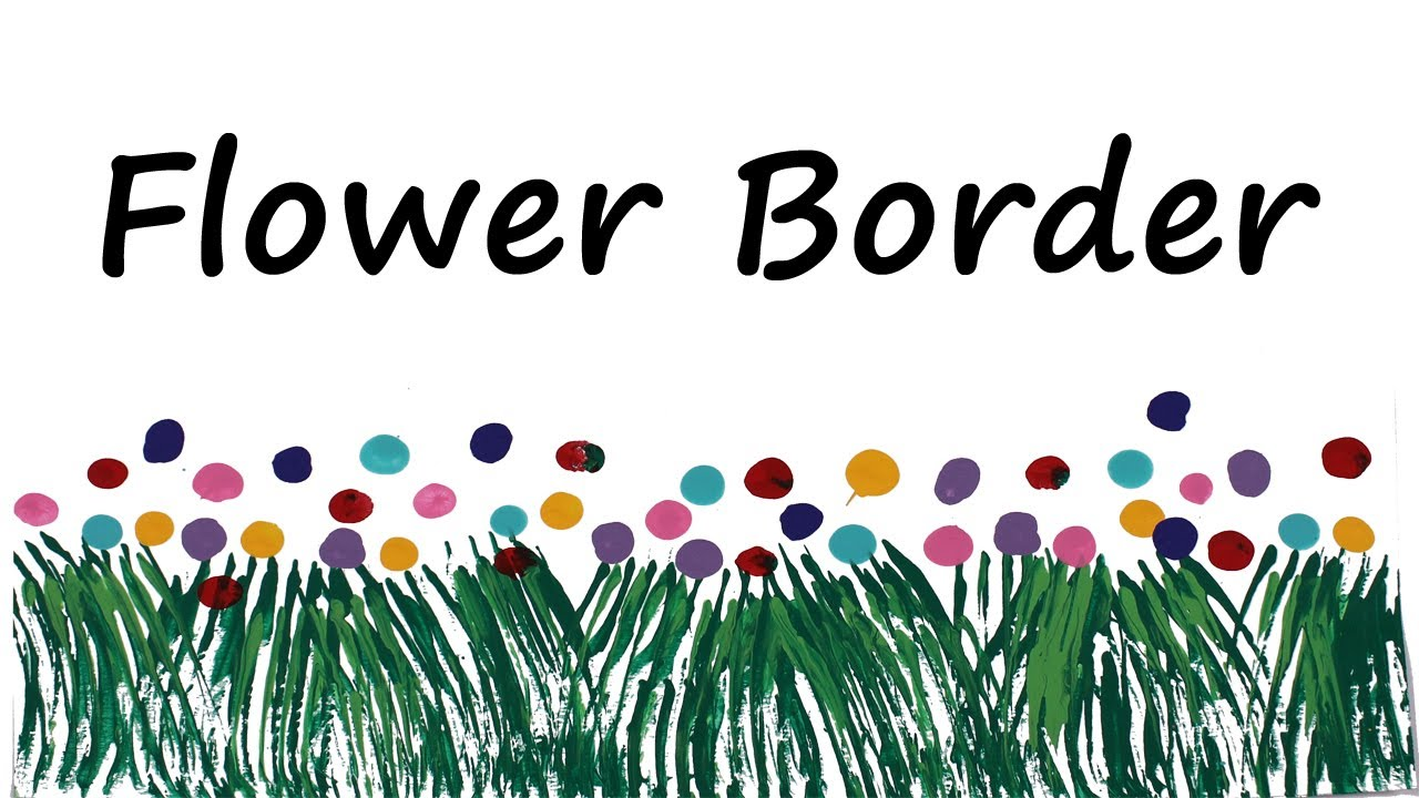 Classroom decoration: Flower border - YouTube