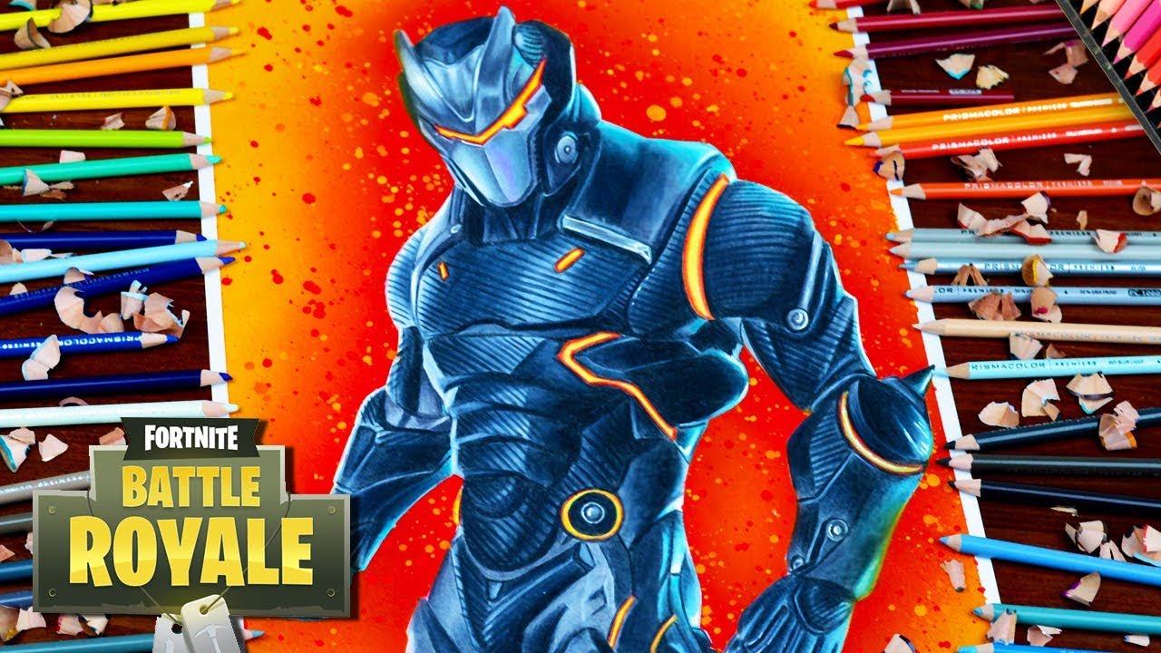 Drawing Fortnite Battle Royale Omega Full Armor Level