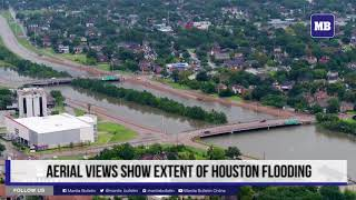 Aerial views show extent of Houston flooding