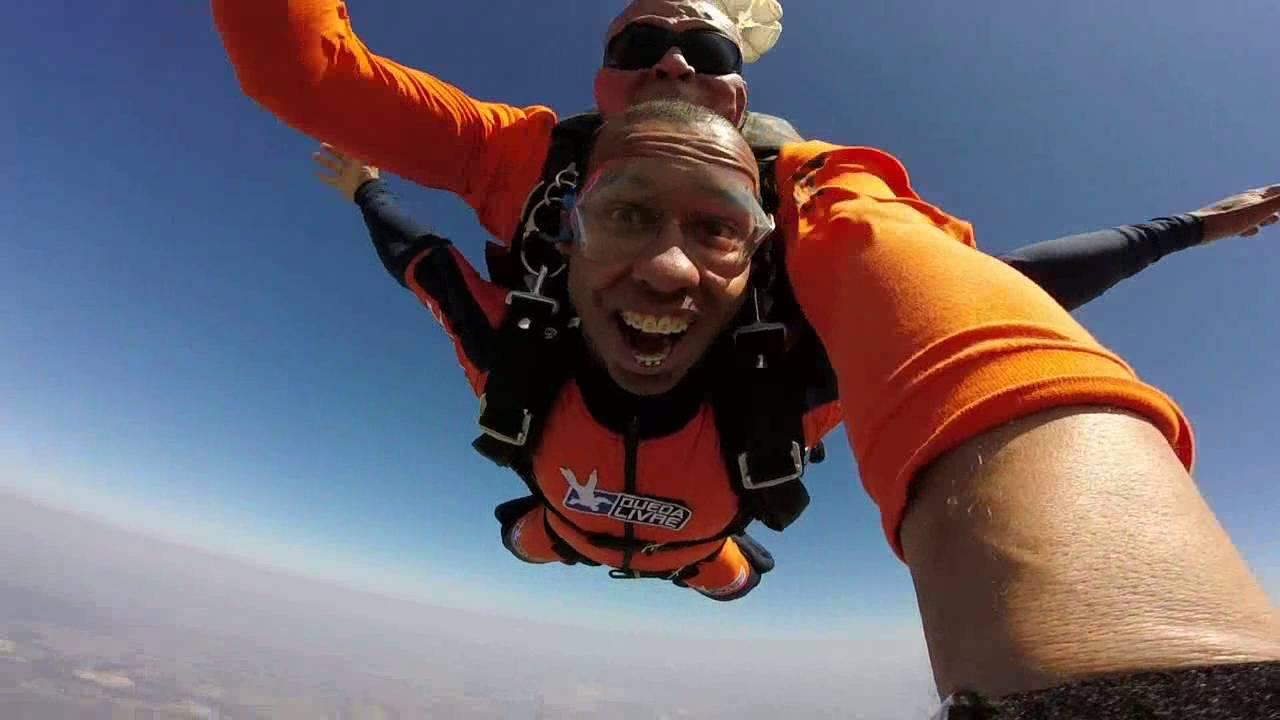 Salto de Paraqueda do Saulo na Queda Livre Paraquedismo 30 07 2016