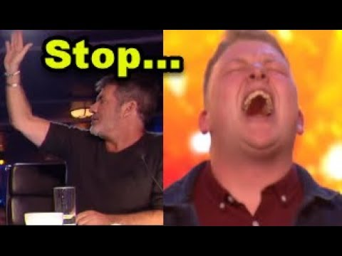 Simon HALTS Nervous Singer but then GOLDEN BUZZER 'Happens'? ... Britain's Got Talent 2018