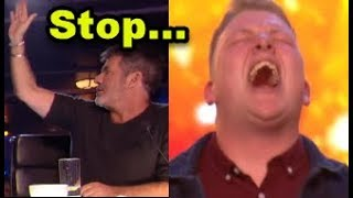 "Simon HALTS Nervous Singer but then GOLDEN BUZZER ""Happens""? ... Britain"