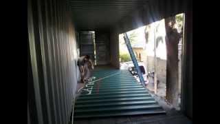 casa container turquesa