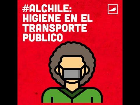 #AlChile con la higiene en el transporte público
