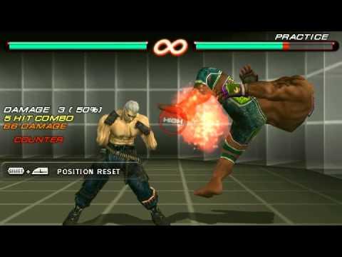 Tekken 6 Psp Bryan Fury Combo Video Youtube