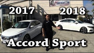 2018 2017 Honda Accord Sport Comparison 1.5T CVT vs 2.4L