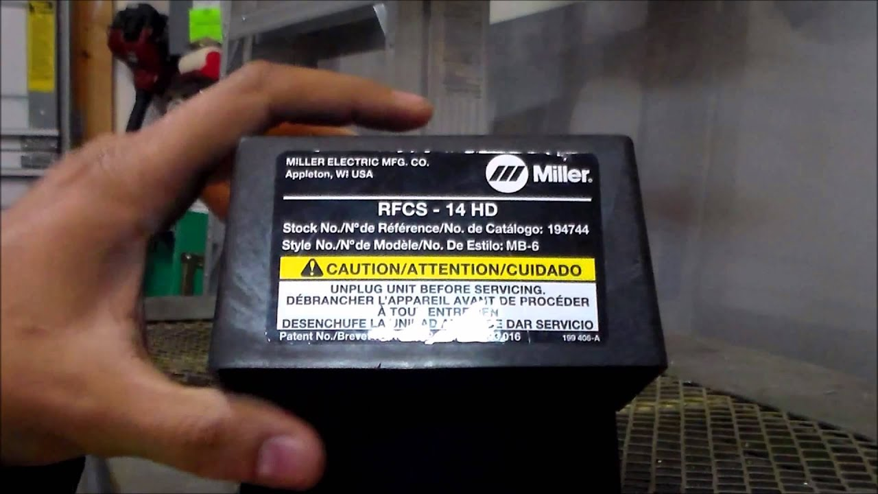 Miller Foot Pedal Fix Rfcs 14 Hd Youtube Millermatic 350p Wiring Diagram