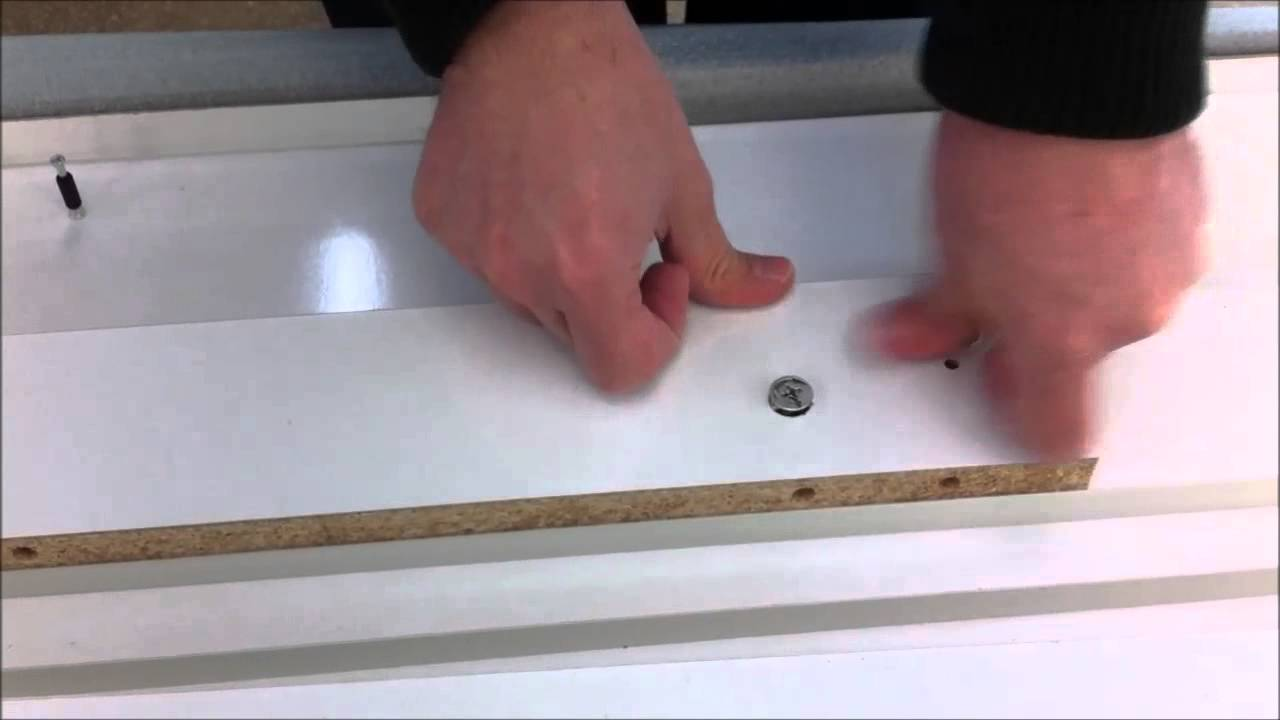 monatge table extensible blanc brillant xl