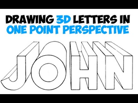 How To Draw 3d Letters Using One Point Perspective Youtube