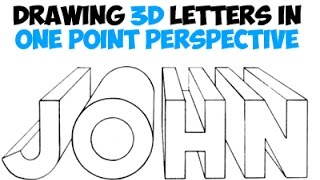 How to Draw 3D Letters Using One Point Perspective