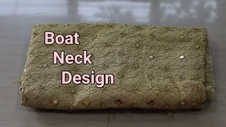 Boat Neck Blouse Back Neck Design Cutting and Stitching  Golden Blouse Back Neck Design  