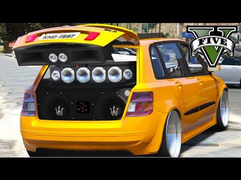 GTA V Mods - Fiat Stilo rebaixado e paredão de som