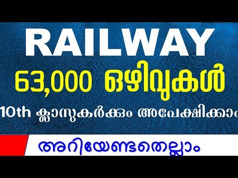 സുവർണ്ണാവസരം -  Railway Group D 2018 - How to Apply Syllabus Vacancies gurukulam Classess