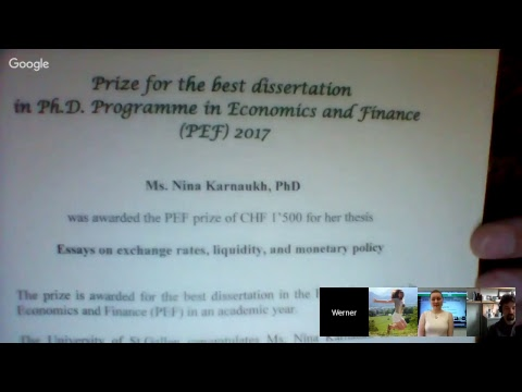 Nina Karnaukh, Public Defense, Phd in Finance University of St. Gallen, 23 May 2017