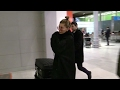 EXCLUSIVE : Sick and coughing Hailey Baldwin arriving at the airport in Paris