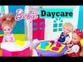 Barbie DAY CARE Playset Teacher Tangled Rapunzel teaches Krista